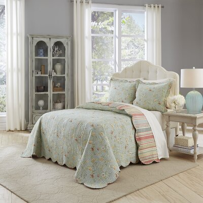 Garden Glitz 3 Piece Reversible Comforter Set Size: King
