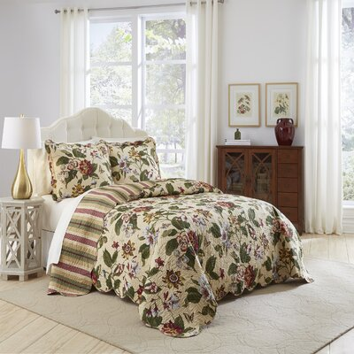 Laurel Spring 3 Piece Reversible Comforter Set Size: Queen