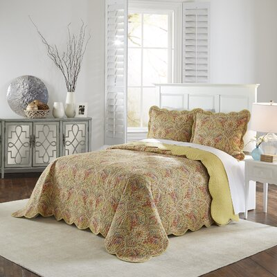 Swept Away 3 Piece Reversible Quilt Set Size: Queen