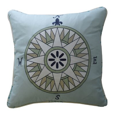 Buon Viaggio Embroidered Polyester Throw Pillow