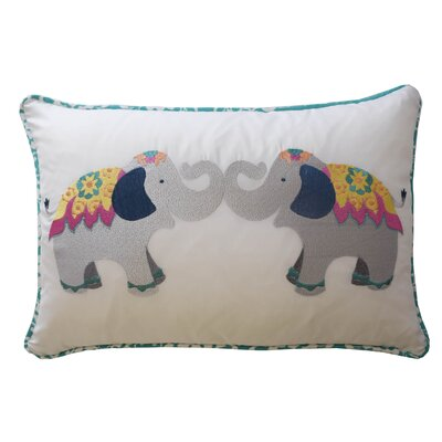 Bollywood Elephant Polyester Lumbar Pillow