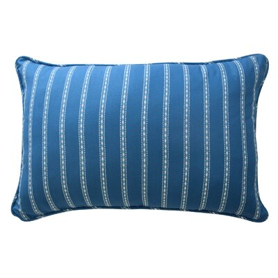 In The Clouds Striped Polyester Lumbar Pillow