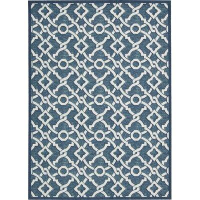 Waverly Treasures Aristice Twist Blue Jay Area Rug Rug Size: 410 x 66