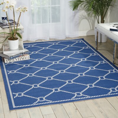 Sun n Shade Navy Indoor/Outdoor Area Rug Rug Size: Rectangle 53 x 75