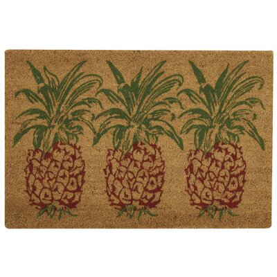 Alton Greetings Pineapple Doormat Rug Size: 16 x 24, Color: Orange