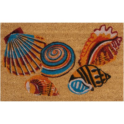 Greetings Tossed Shells Beige Doormat Rug Size: 16 x 24