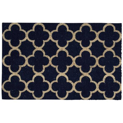 Greetings Geometric Doormat Rug Size: Rectangle 2 x 3, Color: Navy
