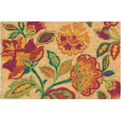 Greetings Katia Work Doormat Mat Size: Rectangle 16 X 24, Color: Orange