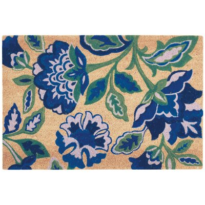 Greetings Katia Work Doormat Rug Size: 16 X 24, Color: Navy