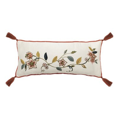 Brighton Blossom Cotton Lumbar Pillow