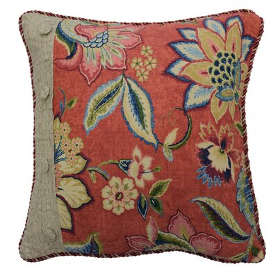 Brighton Blossom Pieced Cotton Throw Pillow