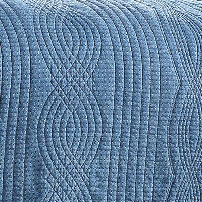 Castleford 100% Cotton 3 Piece Reversible Quilt Set Size: King