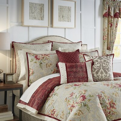 Fresco Flourish 4 Piece Reversible Comforter Set Size: Full/Queen