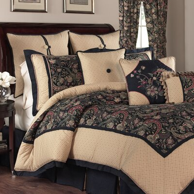 Rhapsody 4 Piece Reversible Bedding Set Size: Queen