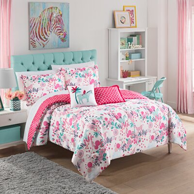 Reverie 3 Piece Reversible Comforter Set Size: Twin