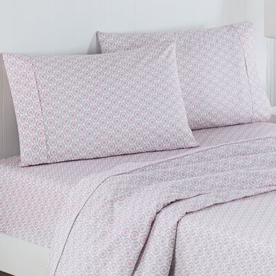 Chantal Polyester Sheet Set Color: Pink, Size: Twin