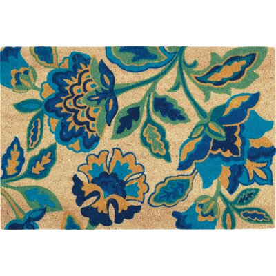 Greetings Katia Work Doormat Rug Size: Rectangle 16 X 24, Color: Aqua