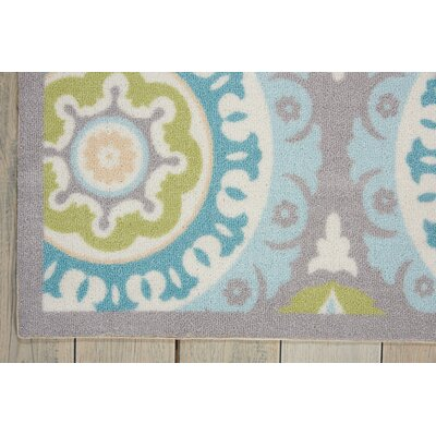 Sun n Shade Solar Flair Purple/Blue Indoor/Outdoor Area Rug Rug Size: 79 x 1010