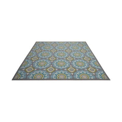 Sun n Shade Solar Flair Purple/Blue Indoor/Outdoor Area Rug Rug Size: Square 79 x 79