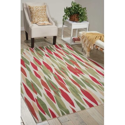 Sun n Shade Bits & Pieces Red/Green Indoor/Outdoor Area Rug Rug Size: Rectangle 53 x 75