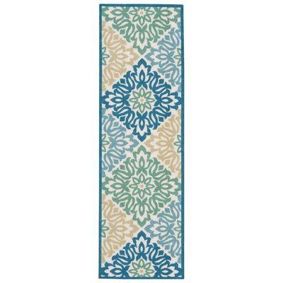 Sun n Shade Sweet Things Marine Indoor/Outdoor Area Rug Rug Size: Runner 23 x 8