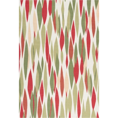 Sun n Shade Bits & Pieces Red/Green Indoor/Outdoor Area Rug Rug Size: Rectangle 43 x 63