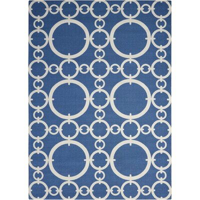 Sun n Shade Connected Navy Indoor/Outdoor Area Rug Rug Size: Rectangle 53 x 75