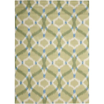 Sun n Shade Izmir Ikat Avocado Indoor/Outdoor Area Rug Rug Size: Rectangle 53 x 75