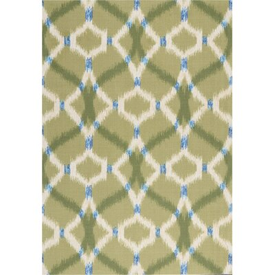 Sun n Shade Izmir Ikat Avocado Indoor/Outdoor Area Rug Rug Size: Rectangle 43 x 63