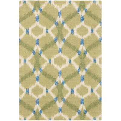 Sun n Shade Izmir Ikat Avocado Indoor/Outdoor Area Rug Rug Size: Rectangle 2 x 3