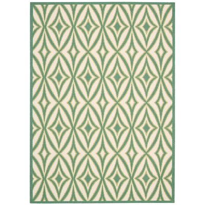 Sun n Shade Centro Green Indoor/Outdoor Area Rug Rug Size: Rectangle 53 x 75