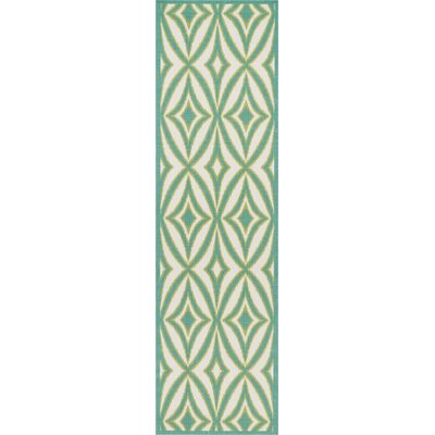 Sun n Shade Centro Green Indoor/Outdoor Area Rug Rug Size: Runner 23 x 8