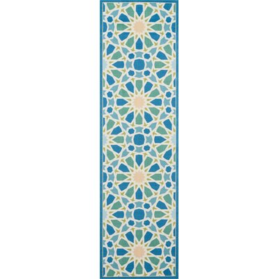 Sun n Shade Starry Eyed Blue Indoor/Outdoor Area Rug Rug Size: Runner 23 x 8