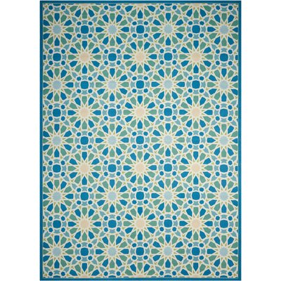 Sun n Shade Starry Eyed Blue Indoor/Outdoor Area Rug Rug Size: Rectangle 79 x 1010