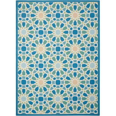 Sun n Shade Starry Eyed Blue Indoor/Outdoor Area Rug Rug Size: Rectangle 53 x 75
