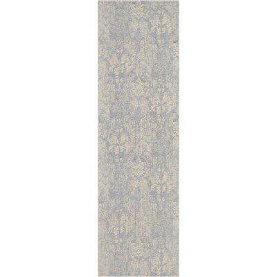 Vintage Lux Hand-Woven Mist Indoor Area Rug Rug Size: Runner 23 x 76