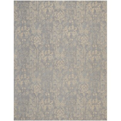 Vintage Lux Hand-Woven Mist Indoor Area Rug Rug Size: Rectangle 8 x 10