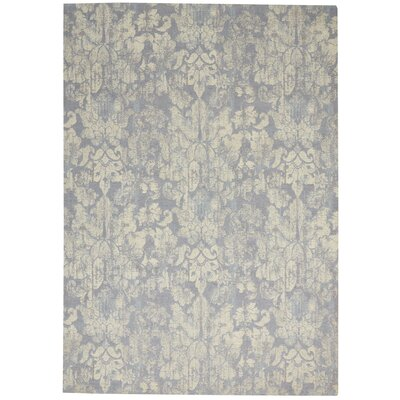 Vintage Lux Hand-Woven Mist Indoor Area Rug Rug Size: Rectangle 5 x 8