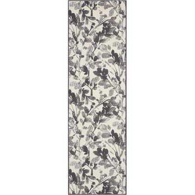 Vintage Lux Hand-Woven Graphite Indoor Area Rug Rug Size: Runner 23 x 76