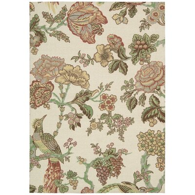 Global Awakening Casablanca Rose Brown/Beige Area Rug Rug Size: Rectangle 26 x 4