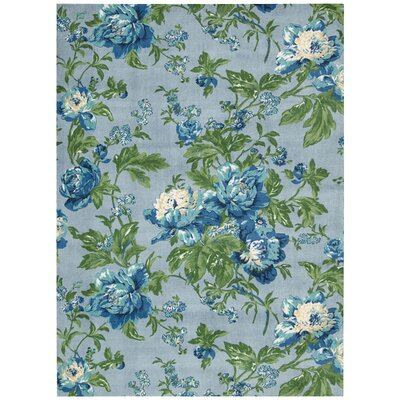 rtisinal Delight Forever Yours Blue/Green Area Rug Rug Size: 5 x 7