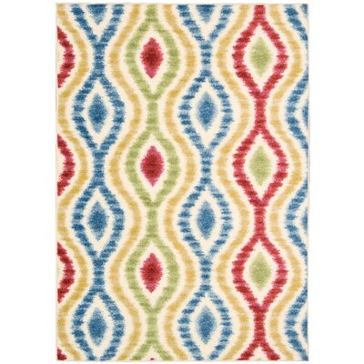 Aura of Flora Optical Delights Brown/Blue Area Rug Rug Size: Rectangle 79 x 1010