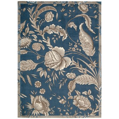 Artisinal Delight Fanciful Blue/Indigo Area Rug Rug Size: Rectangle 5 x 7