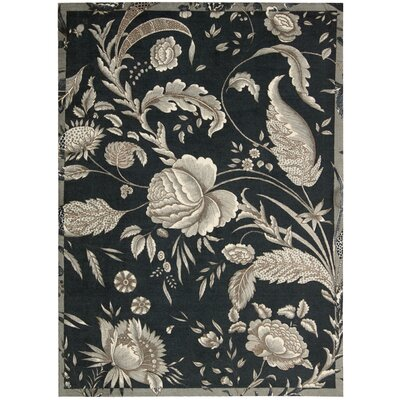 Artisinal Delight Fanciful Black/Ivory Area Rug Rug Size: 5 x 7