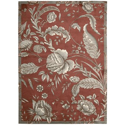 Artisinal Delight Fanciful Russet Area Rug Rug Size: Rectangle 5 x 7