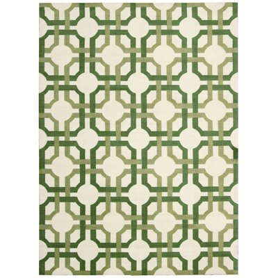 Artisanal Delight Groovy Grille Green Area Rug Rug Size: Rectangle 5 x 7