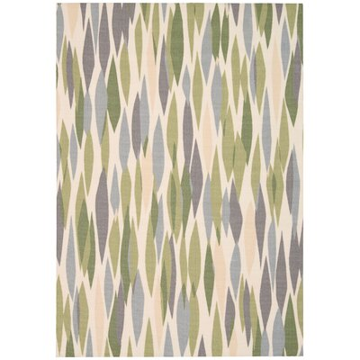 Sun N Shade Bits & Pieces Green Indoor/Outdoor Area Rug Rug Size: Rectangle 79 x 1010
