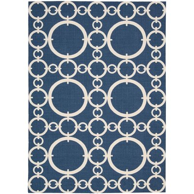 Sun n Shade Connected Navy Indoor/Outdoor Area Rug Rug Size: 53 x 75