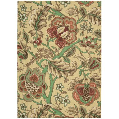 Global Awakening Imperial Dress Beige/Brown Area Rug Rug Size: Rectangle 4 x 6