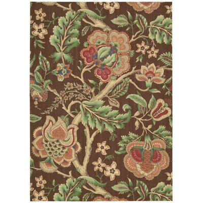 Global Awakening Imperial Dress Chocolate/Brown/Green Area Rug Rug Size: Rectangle 5 x 7